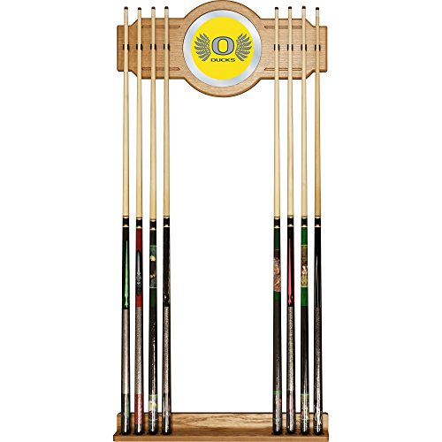 Trademark Gameroom University of Oregon Cue Rack with Wings Mirror by Trademark Gameroom