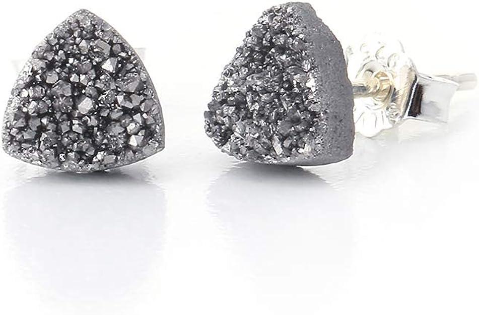 Earring Pair Best Price New Pairs 14203 Baby Mini Geode Druzy Size 17x9x5.5 MM Genuine Tiny Agate Druzy Pair Gemstone Jewellery Making