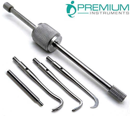 Dental Morrel Crown Remover W/ 3 Attachable Points & 1 Wrench Stainless Steel Instruments