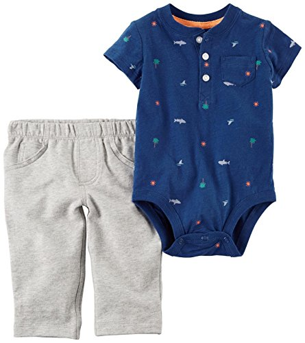 Carter's Baby Boys' Bodysuit Pant Sets 121h161, Navy, 18M