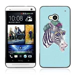 Designer Depo Hard Protection Case for HTC One M7 / Zebra by icecream design