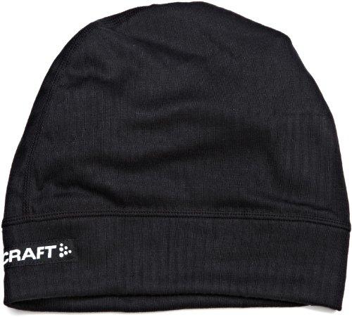 Craft Sportswear Men's Active Skull Bike Cycling Helmet Beanie Hat, Black/Silver, Large