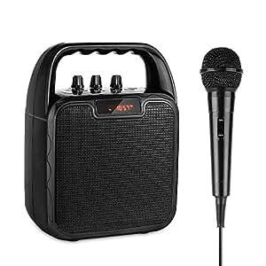 archeer portable pa speaker system bluetooth speaker with microphone karaoke. Black Bedroom Furniture Sets. Home Design Ideas
