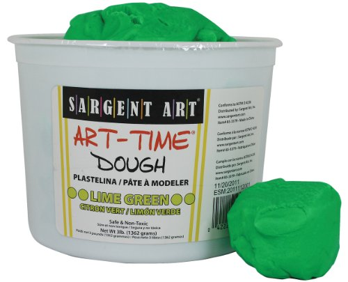 Sargent Art 85-3379 3-Pound Art-Time Dough, Lime Green