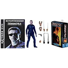 T-1000 Police Figure Movie Terminator 2 Judgment Day DVD + Disguise Action Figure Sci-Fi Neca Pack Schwarzenegger