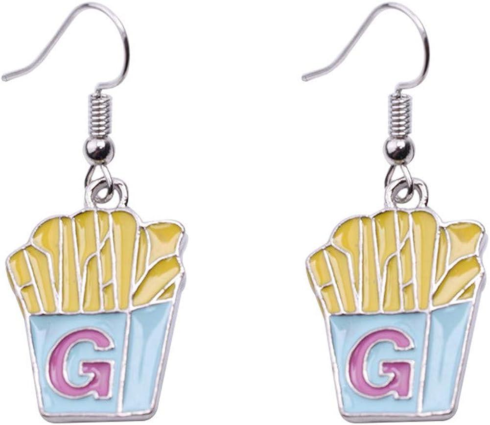 JczR.Y Mini Food Hook Earrings Creative Cute Pizza Hot Dog Cola Bottle Dangle Earrings for Girls