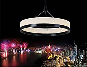 GOWE 1 single ring New Chandeliers Chandelier Acryl Ring Led Circle Chandelier Lamp/Light Fitting Fashion Designer Pendant body color:300mm