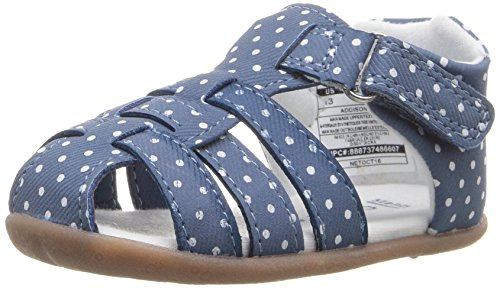 Stage 3 Sandal - Carter's Every Step Stage 2 Girl's and Boy's Standing Shoe, Addison, Blue, 3 M US Little Kid