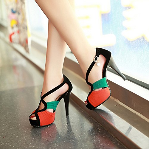 amp; Comfort Fall Sandals Rhinestone Party Women's Toe Stiletto Open B Sexy Spring Evening Wedding for Heel Shoes qtxEF6
