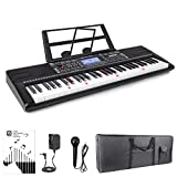 Vangoa VGK6200 61 Lighted Keys Electronic Piano Keyboard, LCD Display Screen with Carry