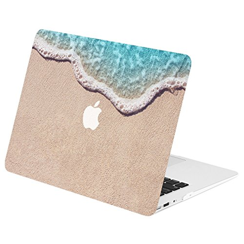 "TOP CASE - Air 13-Inch Retro Series Rubberized Hard Case Cover for MacBook Air 13"" Model: A1369 and A1466 - Clearwater Beach"