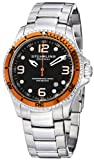 Stuhrling Original Men's 593.332I11 Aquadiver Grand Regatta Swiss Quartz Diver Date Orange Bezel Watch, Watch Central