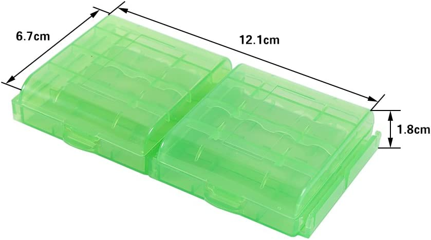 Richer-R Battery Storage Box,5 Colors Multifunctional Transparent Hard Plastic Case Holder Storage Box for AA AAA Battery 10PCS