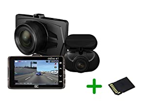 RSC Labs Duduo | Dual-Channel Dashcam with Parking Surveillance Mode | Sony STARVIS Powered | 16GB SD Card Included | #RSC-DUDUOE1-B
