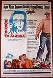 NORTH TO ALASKA - ORIGINAL 1960 ONE SHEET POSTER - JOHN WAYNE CLASSIC WESTERN