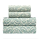 waverly sheets - Traditions by Waverly Duncan Spa 4-Pc. Bed Sheet Set, Queen, Aqua