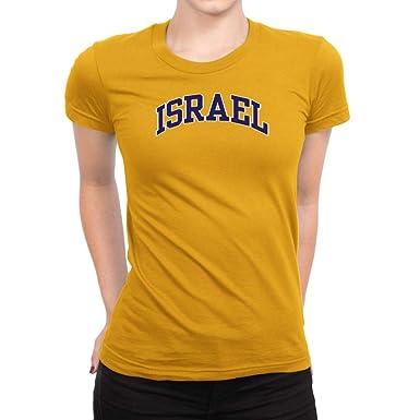 3ed920f38 Amazon.com: Idakoos Israel ATHL Applique Women T-Shirt: Clothing