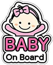 BSL Baby on Board Sticker and Decal for Girl - Baby Bumper Car Sticker - Baby Window Car Sticker - Baby in Car