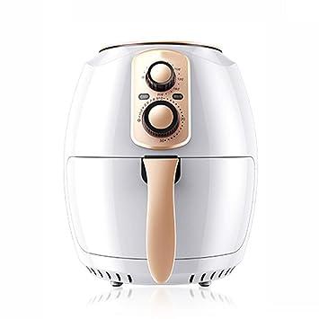 Freidora de Aire Hogar Inteligente de Gran Capacidad Máquina de Papas Fritas automática Sin Aceite Freidora de Aire 3.8L Blanco: Amazon.es
