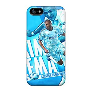 Hard Plastic Iphone 5/5s Cases Back Covers,hot Real Madrid Karim Benzema The Pride Of The France Cases At Perfect Customized