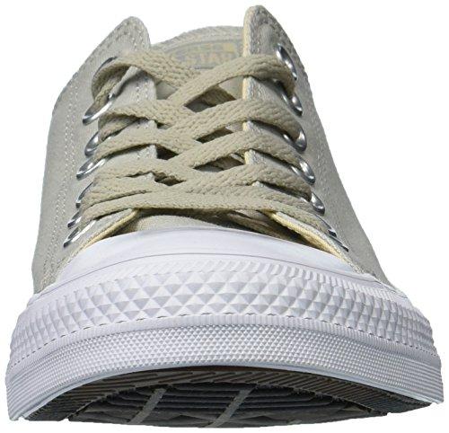Mens Converse Chuck Taylor All Star Tri-blocco Intersuola A Basso Sneaker Top Grigio Chiaro / Deserto / Bianco