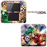 Super Heroes Decorative Video Game Decal Cover Skin Protector for Nintendo 2Ds