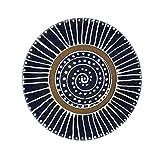 Earthworks Handmade Stoneware Dinnerware Pottery (Salad Dessert Plate (8-in), Bajan Blue)