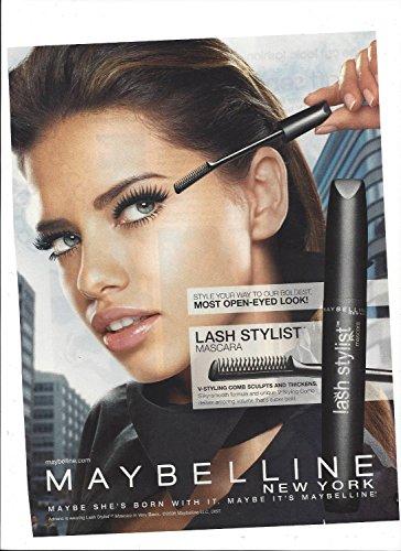**PRINT AD** With Adriana Lima For 2006 Maybelline Lash Stylist Cosmetics **PRINT AD**