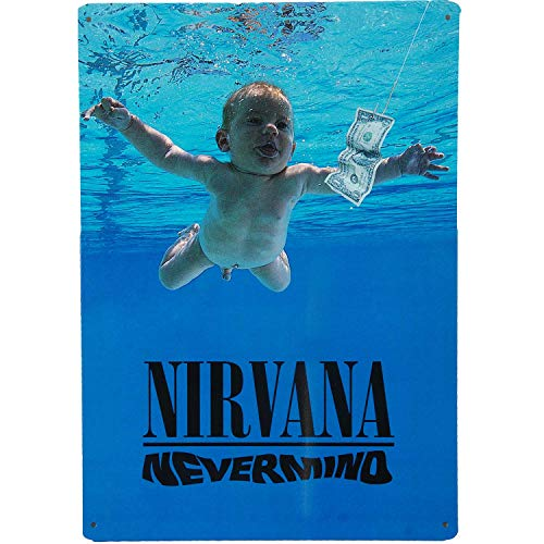 Iconic Concepts Nirvana Nevermind Tin Sign Wall Decor