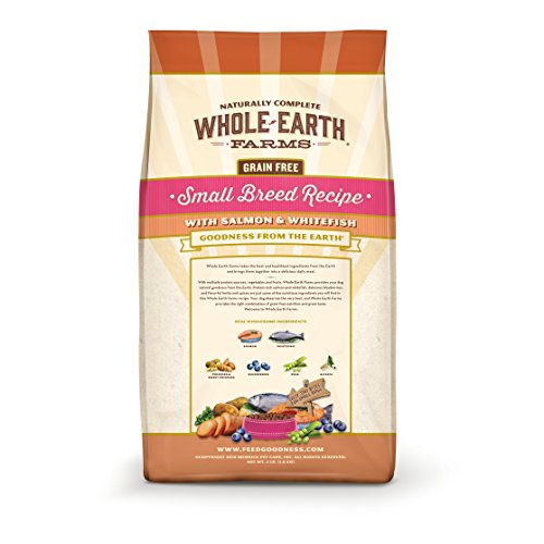 Merrick Whole Earth Farms Grain Free Small Breed Recipe with Salmon & Whitefish Dry Dog Food, 12 lbs.