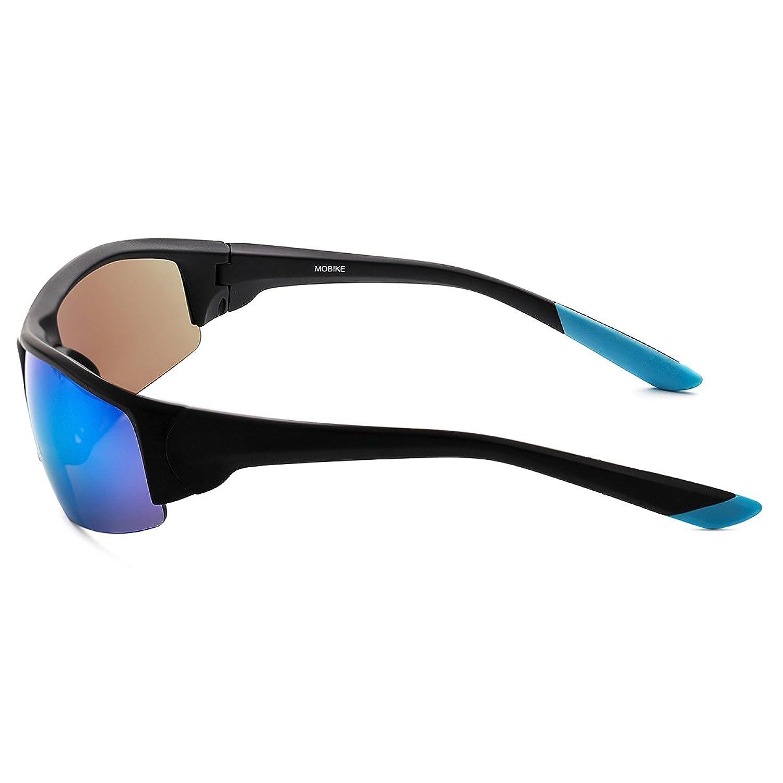 Yufenra Polarisierte sportliche Sonnenbrille für Outdoor-Aktivitäten wie Radfahren, Autofahren und Angeln. (Schwarz Matt Rahmen/Grüne Spiegellinse)
