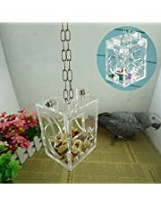 Sanwooden Funny Parrot Foraging Cage Parrot Bird Cage Feeder Hanging Forage Toys Pet Treat Hunt Macaw Cockatoo Budgie Pet Supplies