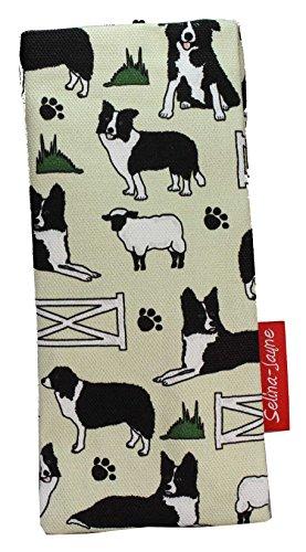 Selina-Jayne Border Collie Dogs Limited Edition Designer Soft Fabric Glasses Case