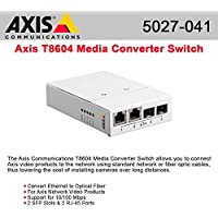 AXIS T8604 MEDIA CONVERTER SWITCH 2XRJ45PORTS/2XSFP FOR FIBER OPTICS / 5027-041 / by Axis