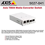 Axis, T8604 Media Converter Switch Media Converter 10Base-T, 100Base-Tx, 1000Base-X, 100Base-X 2 Ports Rj-45 / Sfp (Mini-Gbic) ''Product Category: Networking/Tranceivers & Tranceiver Modules''