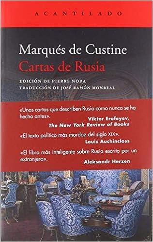Cartas de Rusia (El Acantilado): Amazon.es: Marqués de ...