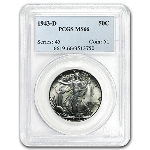 1943 D Walking Liberty Half Dollar MS-66 PCGS Half Dollar MS-66 PCGS