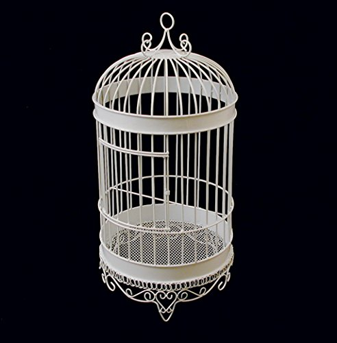 Firefly Imports Homeford White Metal Wedding Bird Cage, 20-1/2-Inch