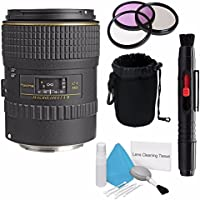 Tokina 100mm f/2.8 AT-X M100 AF Pro D Macro Autofocus Lens for Canon EOS (International Model) No Warranty+Deluxe Cleaning Kit + Lens Cleaning Pen + 55mm 3 Piece Filter Kit+Deluxe Lens Pouch Bundle 8
