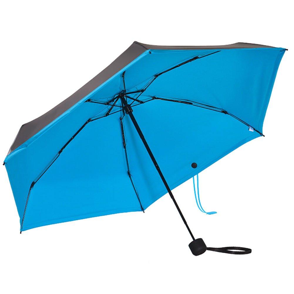 Parapluie de poche pliable pli/é 6,66 pouces 0,43 livres UPF 50+ cinq parapluie de voyage pliable hibote Super Mini et Ultra-l/éger