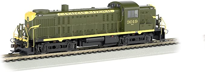 DCC on Board Black with Yellow Lettering N Scale Bachmann Industries Alco RS-3 Locomotive PRR 5604