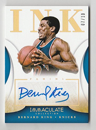 ulate Bernard King Ink Auto Autograph Card #63 Numbered 7/10 - Panini Certified - Basketball Autographed Cards (Bernard King Autographed Basketball)