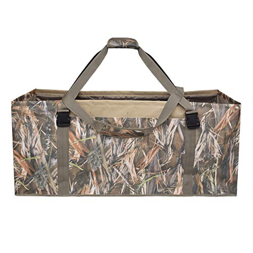 UBOWAY 12 Slot Duck Decoy Bag - Slotted Decoy Bags with Independent Slots Adjustable Shoulder Strap Dirt Drain Design for Duck Decoys (2019 Camo)