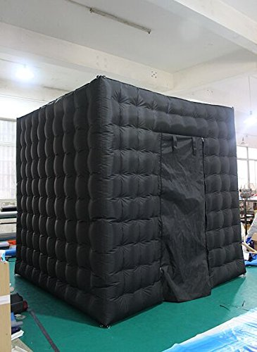 AmazingsportsTM Inflatable Portable Photo Booth For Hire For Rental For Party With LED Light And Controller With Inner Air Blower (One Door) by AmazingsportsTM