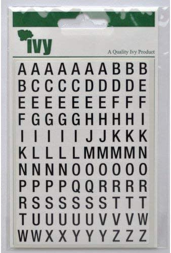 """18 sets /"""" A to Z /"""" Black Letters Alphabet English Label Stickers A To Z"""