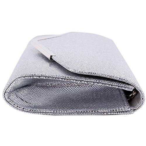 Unique Femme Silver Pochette Taille Anladia Pour xq1EIq