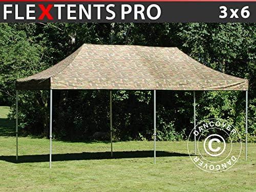 Dancover FleXtents Pro - Carpa Plegable Resistente al Agua (3 x 6 m), diseño de Camuflaje: Amazon.es: Jardín