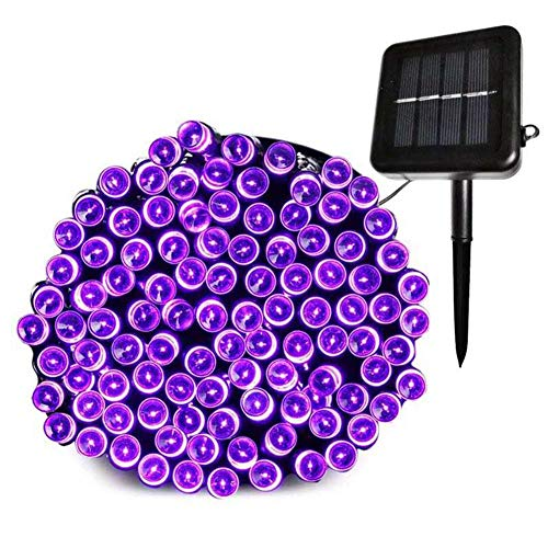 LIKO HOME Solar Fairy Christmas String Lights,70ft 200LED,Ambiance Lighting for Outdoor, Patio, Lawn, Landscape, Fairy Garden, Home, Wedding, Holiday Party and Xmas Tree(Purple)