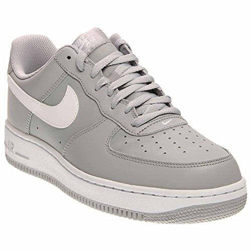 Nike MenS Air Force 1 Basketball Shoe (Wolf Grey/White-Wolf Grey), Wolf Grey/White/Wolf Grey, 42 D(M) EU/7.5 D(M) UK