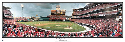 2002 Series (Anaheim Angels October 26, 2002 World Series Game 6 Magical Comeback Panoramic Poster #2024)
